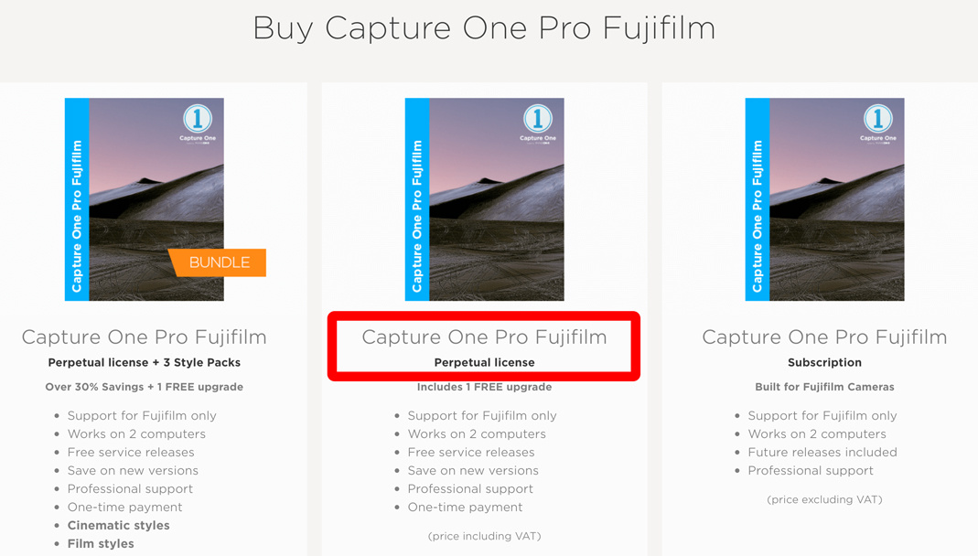 Capture One Fuji Kaufversion - und 10% Rabatt!